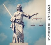 statue of lady justice with... | Shutterstock . vector #175483226