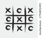 Tic Tac Toe Game With Black...
