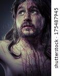 bible  representation of jesus... | Shutterstock . vector #175487945