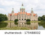 Stock photo landscape of the new town hall in hanover germany 175488032