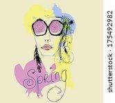 fashion girl   Shutterstock .eps vector #175492982