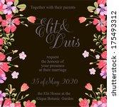 wedding invitation | Shutterstock .eps vector #175493312
