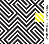 black and white rhythmic... | Shutterstock .eps vector #175497302