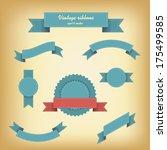 vintage ribbons set for... | Shutterstock .eps vector #175499585