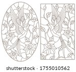 set of contour illustrations of ... | Shutterstock .eps vector #1755010562