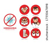 coronavirus symptoms and... | Shutterstock .eps vector #1755067898