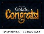 class of 2020. congrats... | Shutterstock .eps vector #1755094655