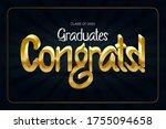class of 2020. congrats... | Shutterstock .eps vector #1755094658