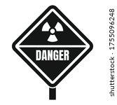 danger radiation zone icon.... | Shutterstock .eps vector #1755096248