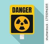 danger zone sign icon. flat... | Shutterstock .eps vector #1755096305