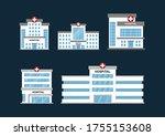 set flat vector design of... | Shutterstock .eps vector #1755153608