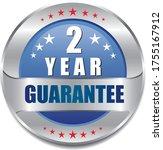 2 year guarantee stamp vector... | Shutterstock .eps vector #1755167912