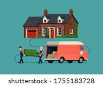 moving company professionals at ...   Shutterstock .eps vector #1755183728