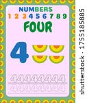 preschool and toddler math with ...   Shutterstock .eps vector #1755185885