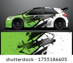 rally car decal graphic wrap... | Shutterstock .eps vector #1755186605