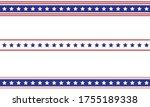 patriotic border divider... | Shutterstock .eps vector #1755189338