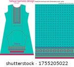 salwar kameez artwork for ready ... | Shutterstock .eps vector #1755205022