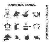cooking icons  mono vector... | Shutterstock .eps vector #175520825