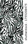 seamless zebra pattern  animal... | Shutterstock .eps vector #1755208475