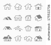home outline stroke symbol... | Shutterstock .eps vector #175522736