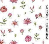seamless floral pattern | Shutterstock . vector #175523198