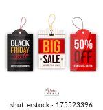 vector vintage sale tags ... | Shutterstock .eps vector #175523396