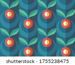 background fruits and green... | Shutterstock .eps vector #1755238475