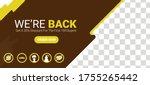 open again after quarantine....   Shutterstock .eps vector #1755265442
