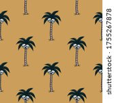 palm tree with skulls black... | Shutterstock .eps vector #1755267878