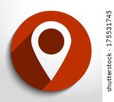 vector map pointer icon... | Shutterstock .eps vector #175531745