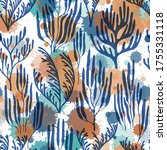 coral polyps seamless pattern.... | Shutterstock .eps vector #1755331118