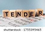 Tender Word On Cube Block On...