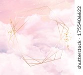 sugar cotton pink clouds vector ... | Shutterstock .eps vector #1755406622