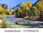 Mountain River And Colourful...