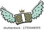 money with wings. flying money. ...   Shutterstock .eps vector #1755448595