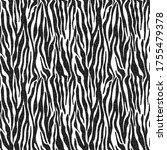funky zebra stripes design  ...   Shutterstock . vector #1755479378