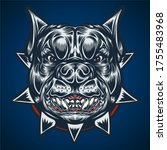 bulldog head angry vector...   Shutterstock .eps vector #1755483968