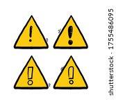 danger sign  warning sign ... | Shutterstock .eps vector #1755486095