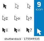 vector black mouse cursor icons ... | Shutterstock .eps vector #175549535