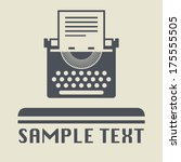 typewriter icon or sign  vector ... | Shutterstock .eps vector #175555505