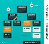 modern organizational chart... | Shutterstock .eps vector #175556072