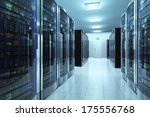 modern network and... | Shutterstock . vector #175556768