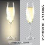 transparent vector. champagne... | Shutterstock .eps vector #175558802
