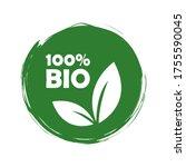 set of bio natural food. leiba... | Shutterstock .eps vector #1755590045