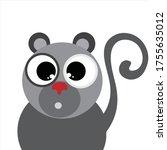 vector illustration of monkey... | Shutterstock .eps vector #1755635012