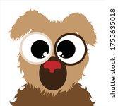 vector illustration of dog on... | Shutterstock .eps vector #1755635018
