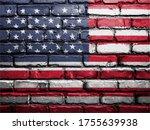 United States Flag Painting On...