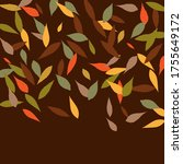 leaves. throw autumn leaves.... | Shutterstock .eps vector #1755649172