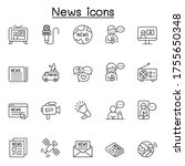 news icons set in thin line... | Shutterstock .eps vector #1755650348