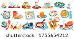 breakfast food vector... | Shutterstock .eps vector #1755654212